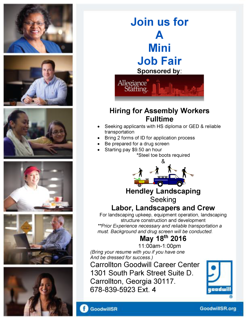 AS Job Fair Flyer for 5-18-16