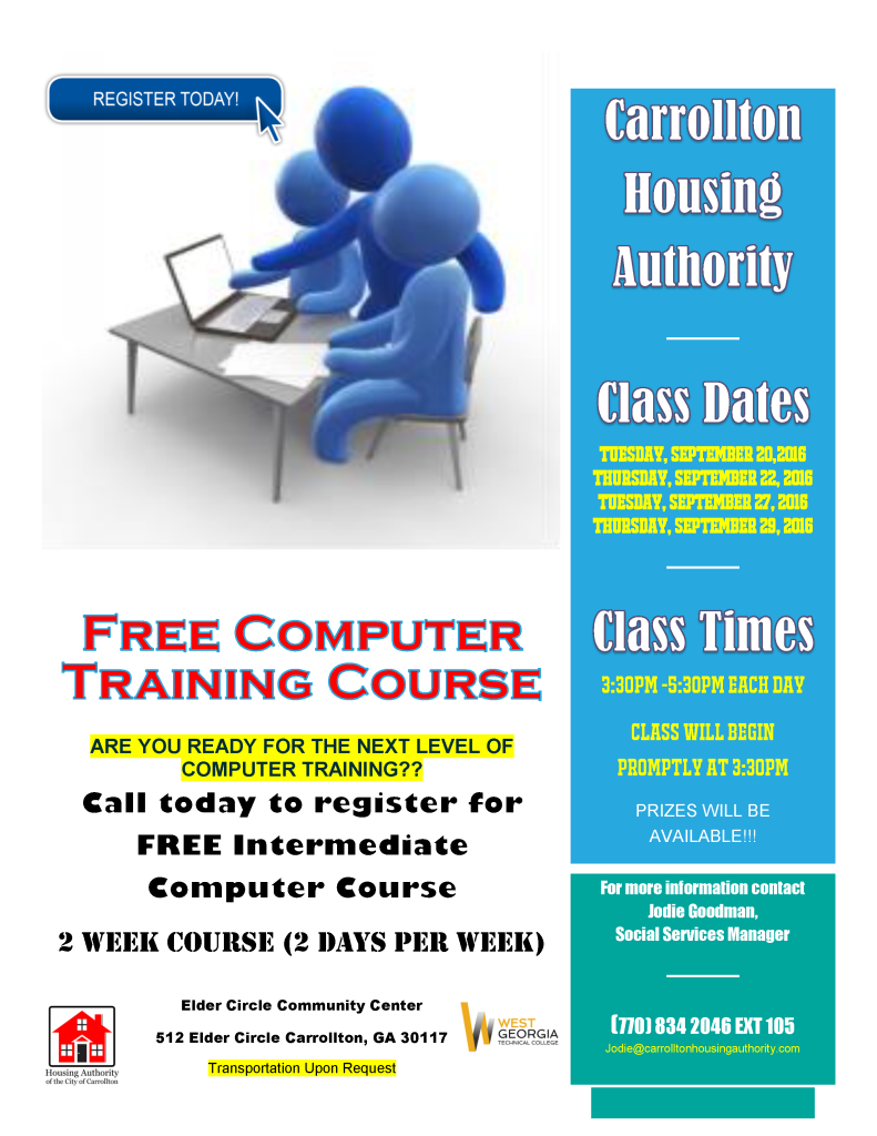 Computer Training Flyer