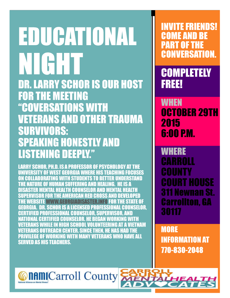 EDucationalNightNAMI-CMHA10-29-15