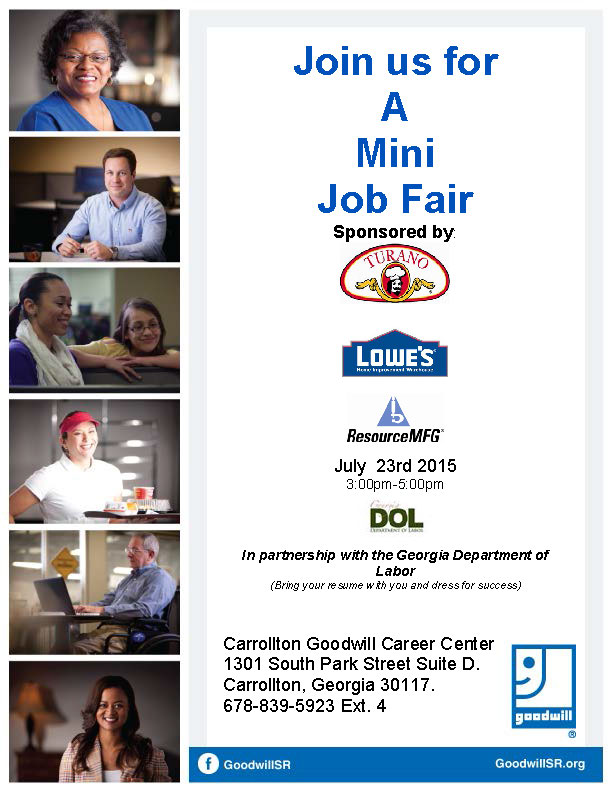 Job Fair Flyer July 23rd 2015