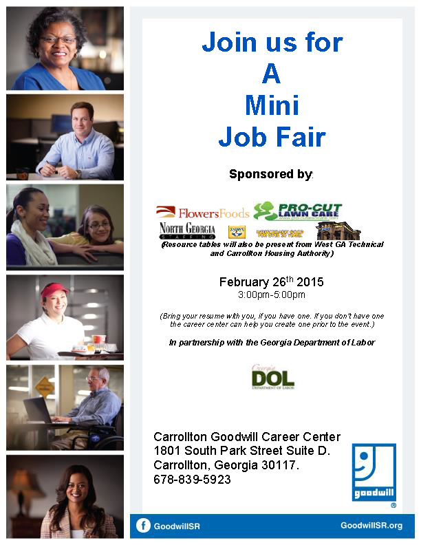 Job Fair Flyer for DOL 2-15