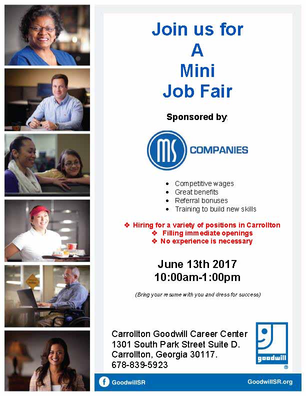 Job Fair Flyer for MS 6-17