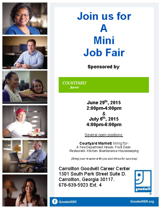 Job Fair Flyer for Marriott 6 2015- 7 2015