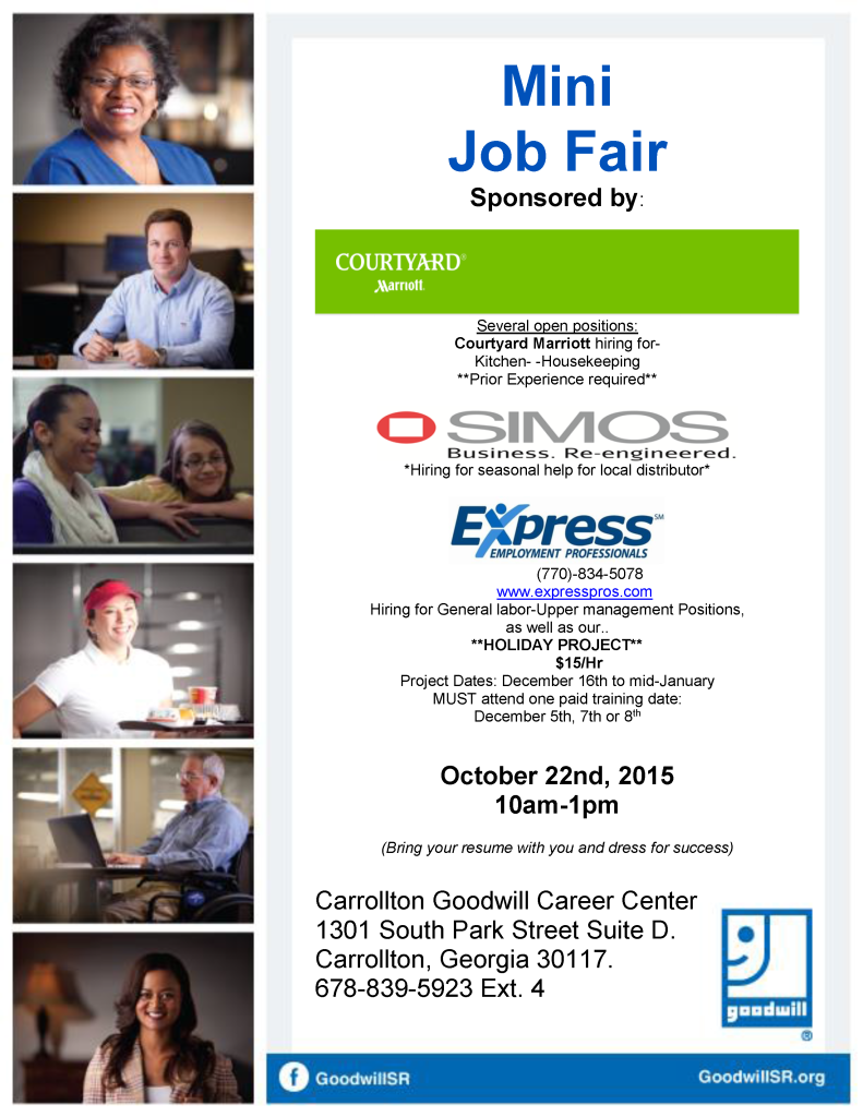 Job Fair Flyer for Marriott Simos 10-2015