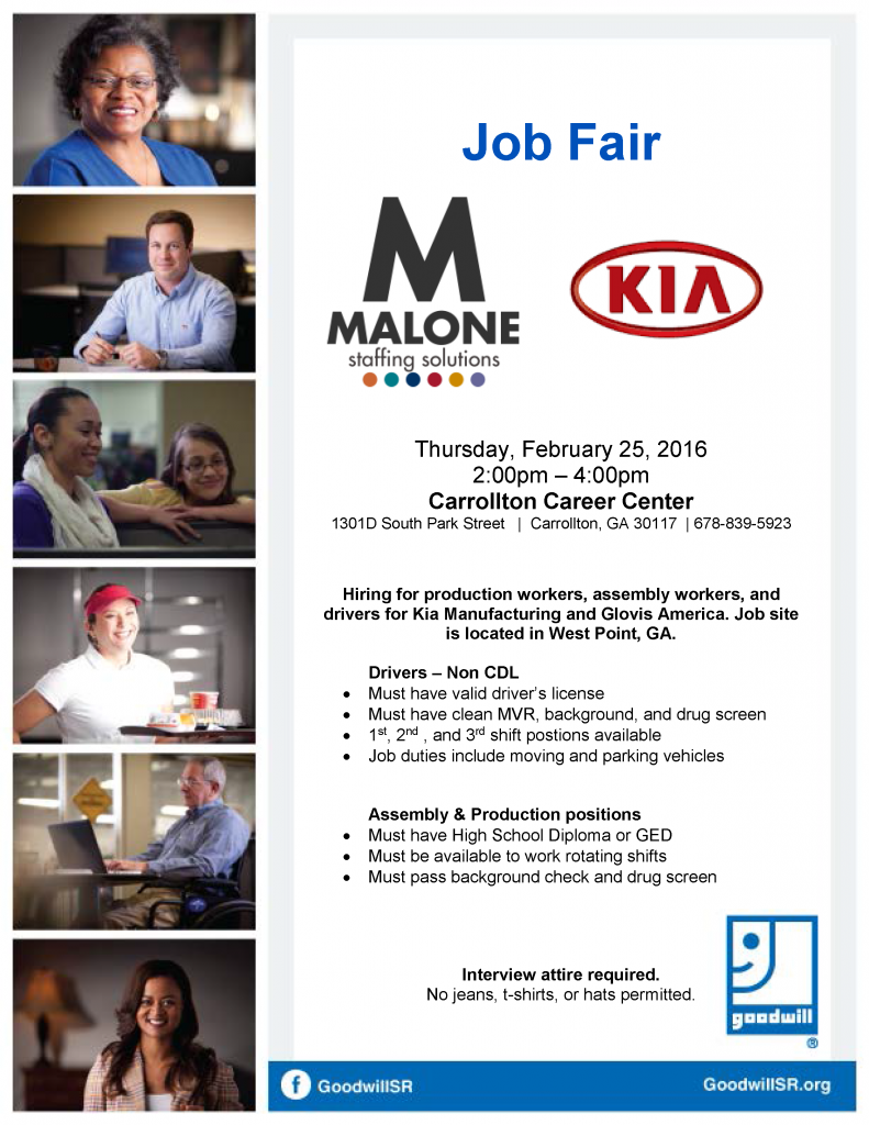 Kia Job Fair February 2016
