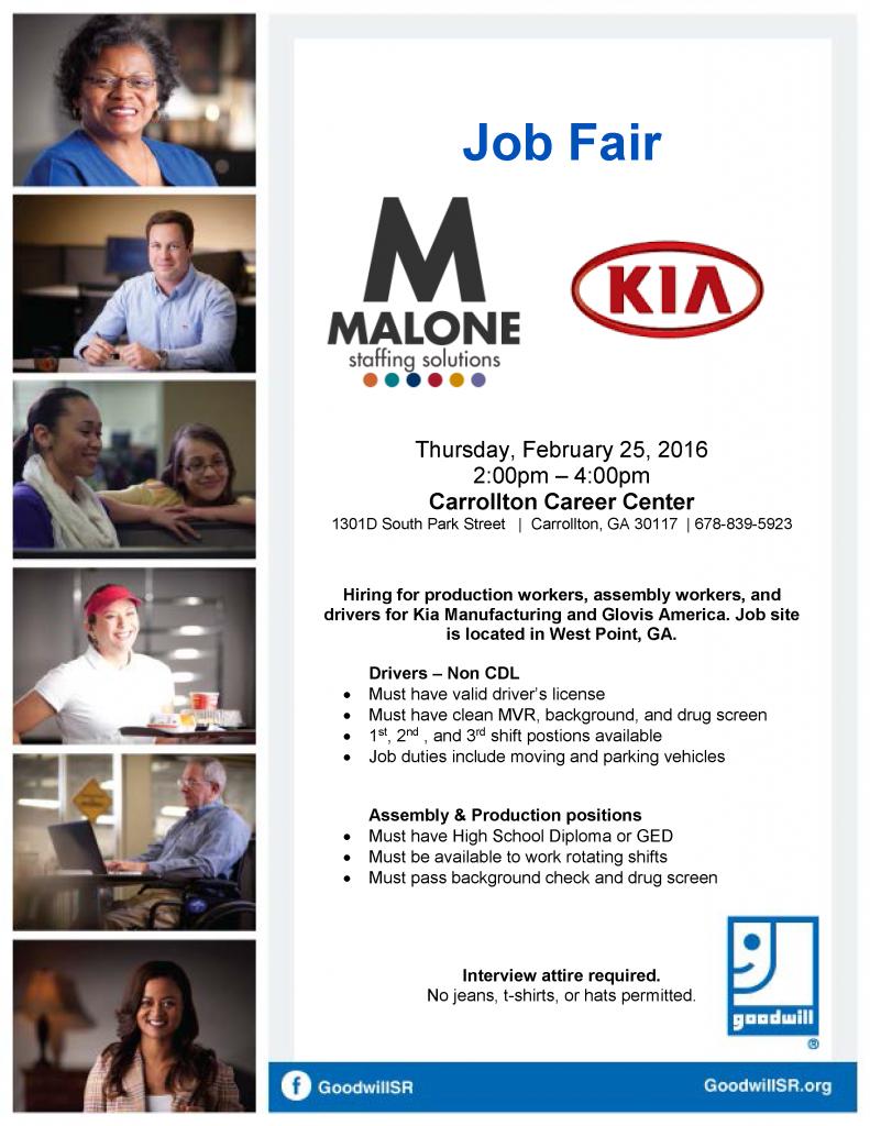 Kia Job Fair February 2016