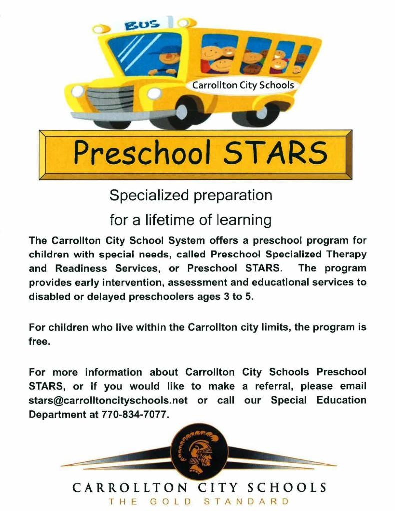STARS Preschool flyer 1