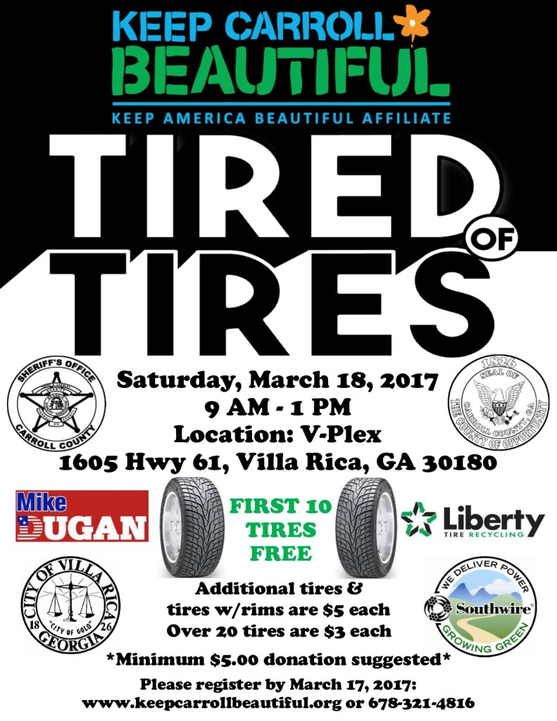 Tire Recycling flyer 2017