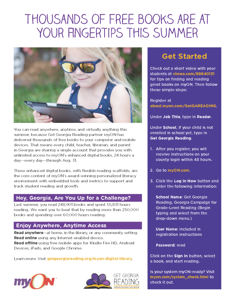 myOn summer 2017 flyer