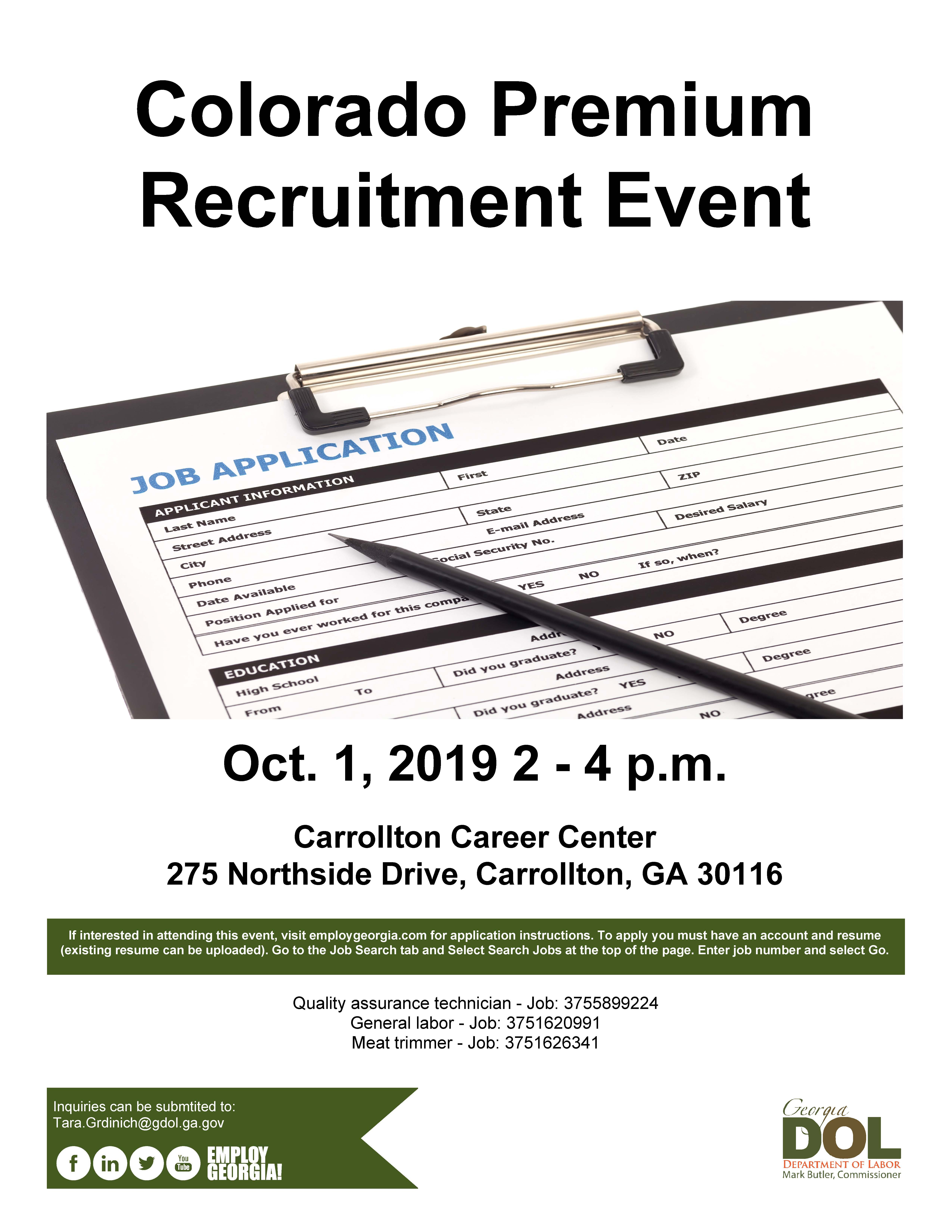 Colorado Premium Recruitment Event
