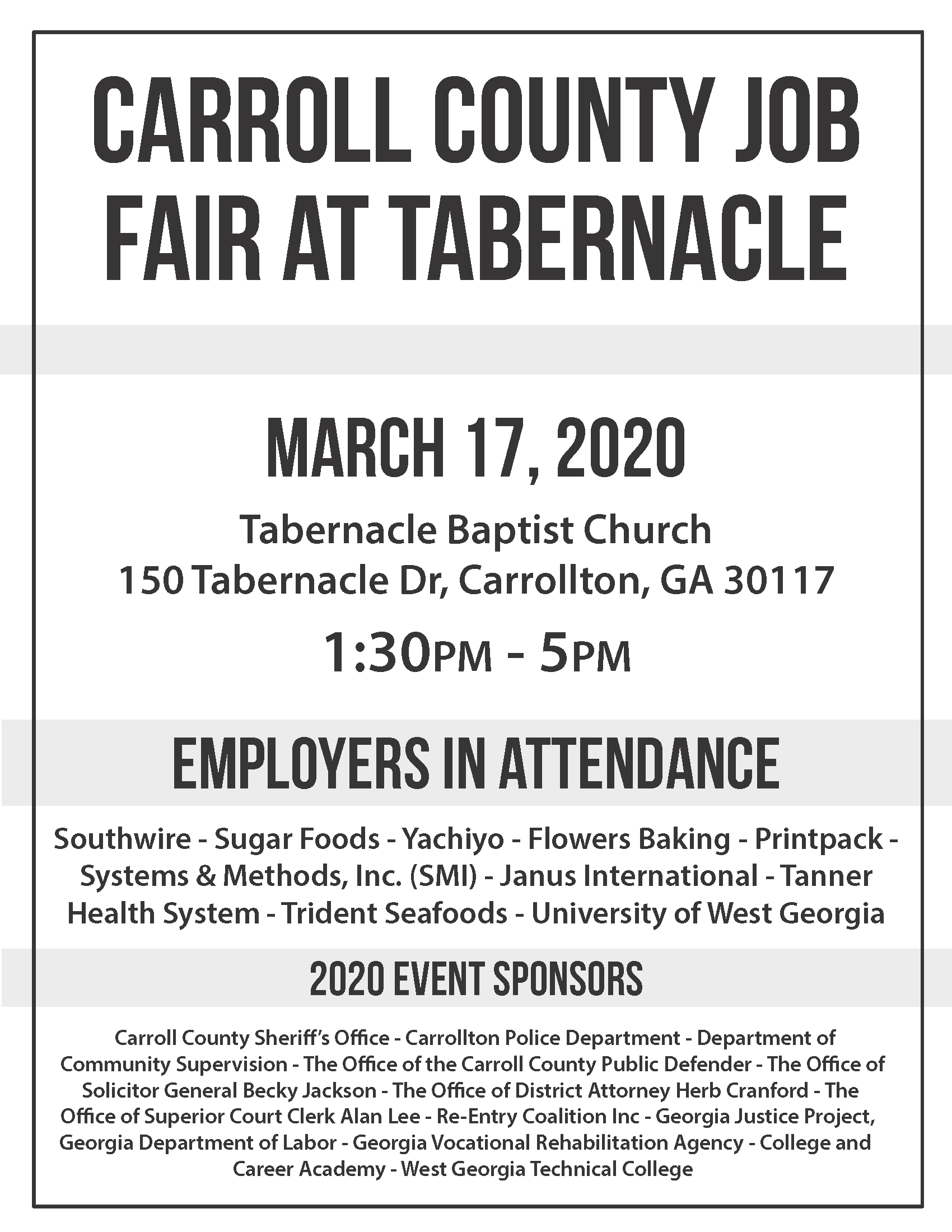 Carroll County Job Fair