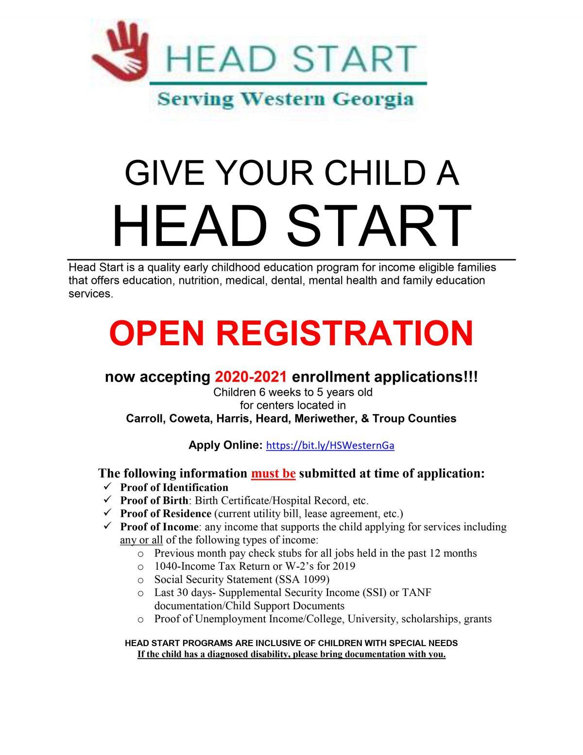 Download Free Georgia Head Start Pre K Program