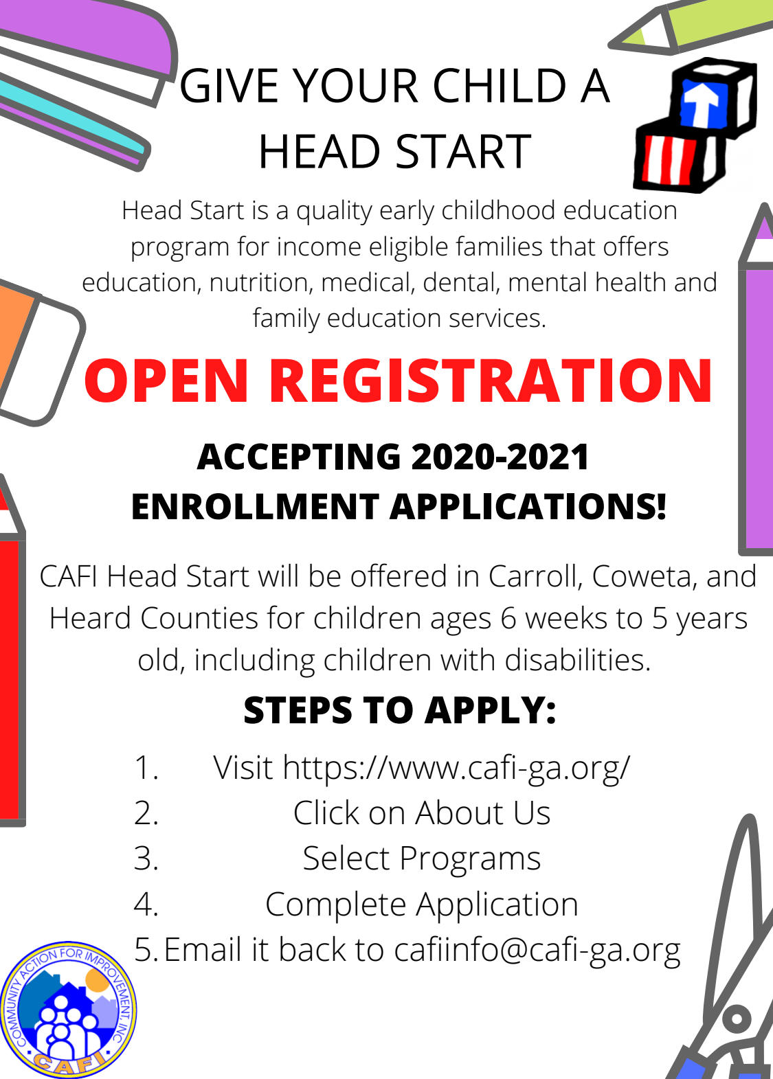 CAFI Open Registration