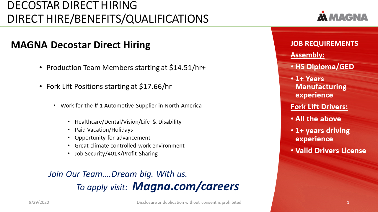 Decostar Direct Hiring