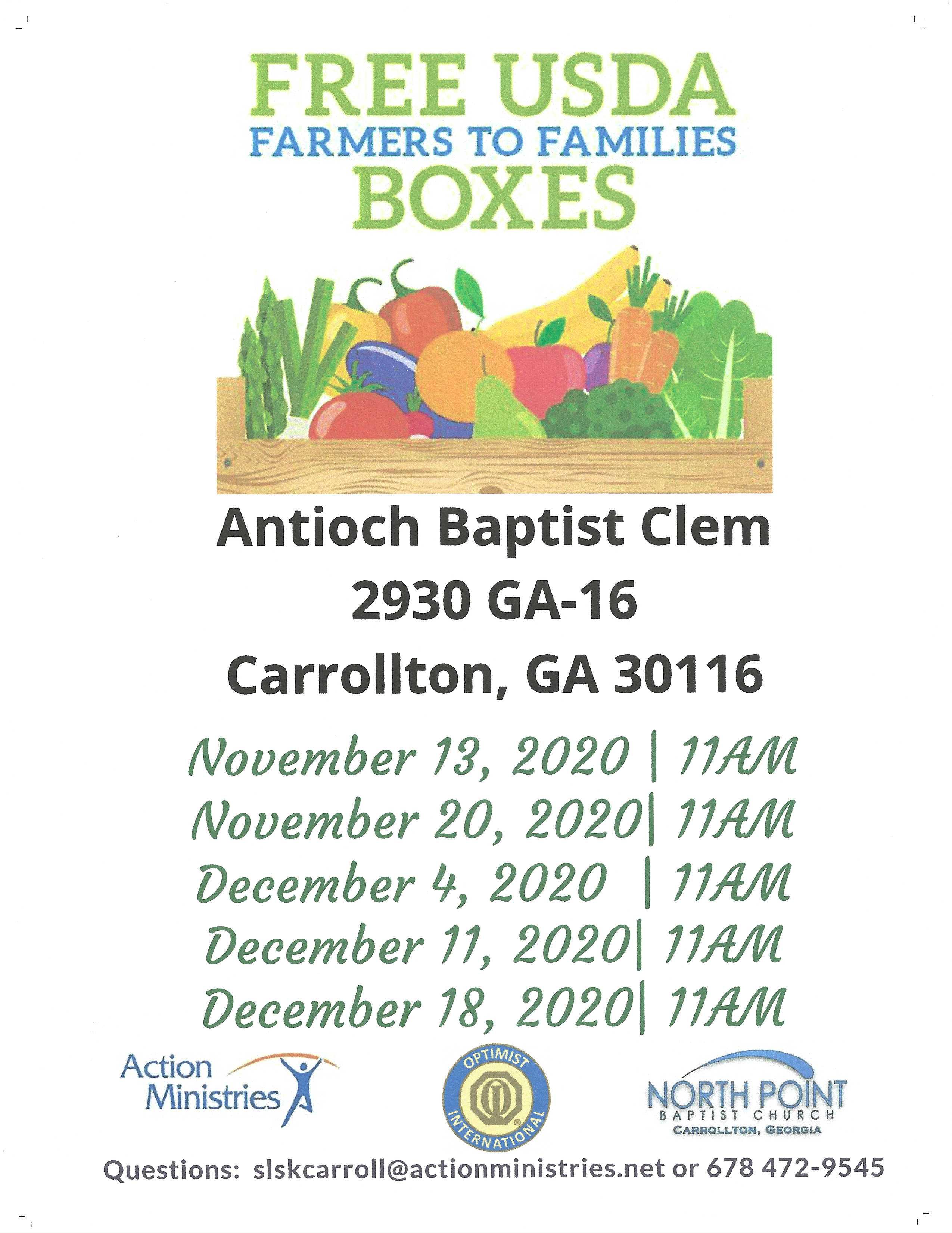 Free USDA Boxes