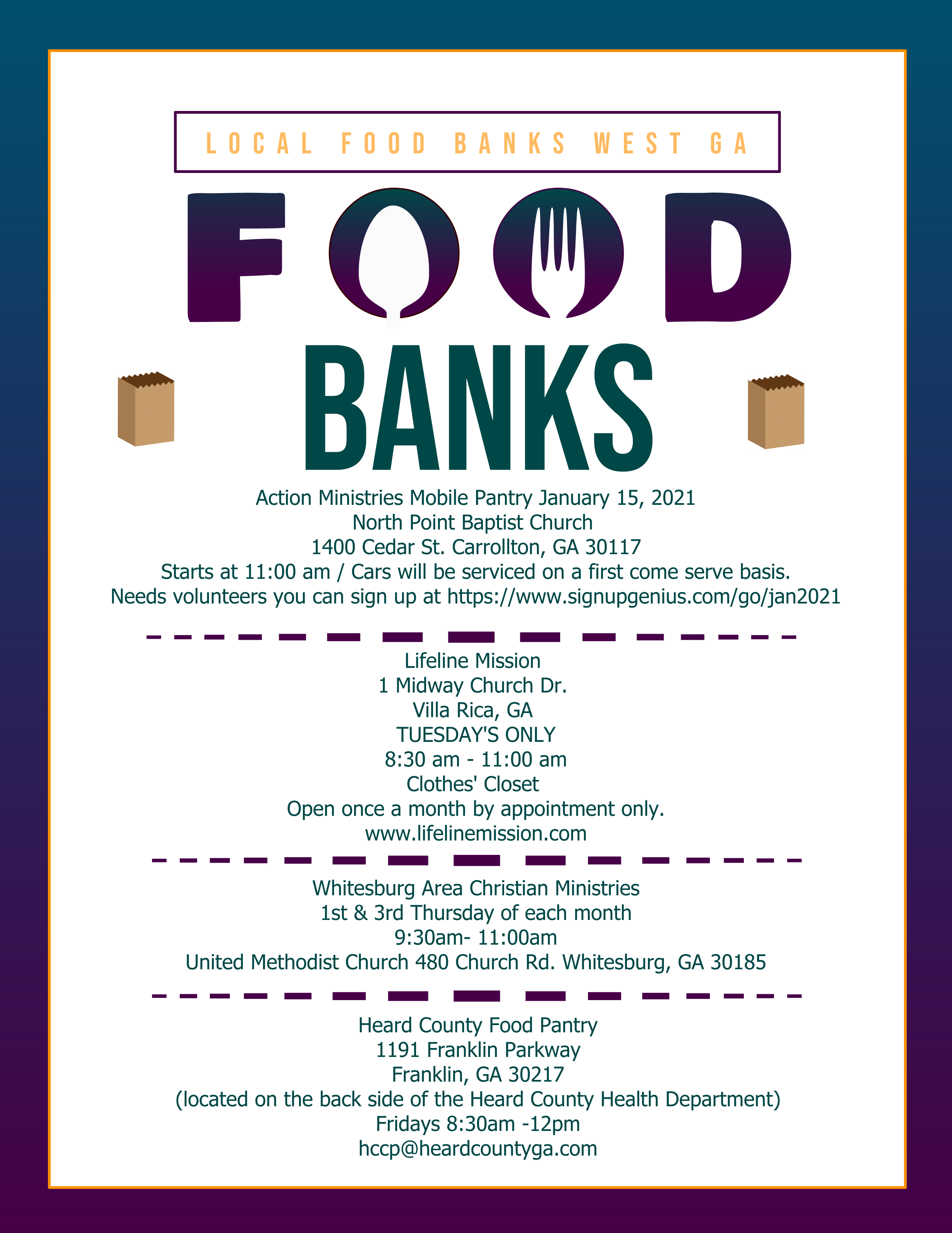 West GA Food Banks