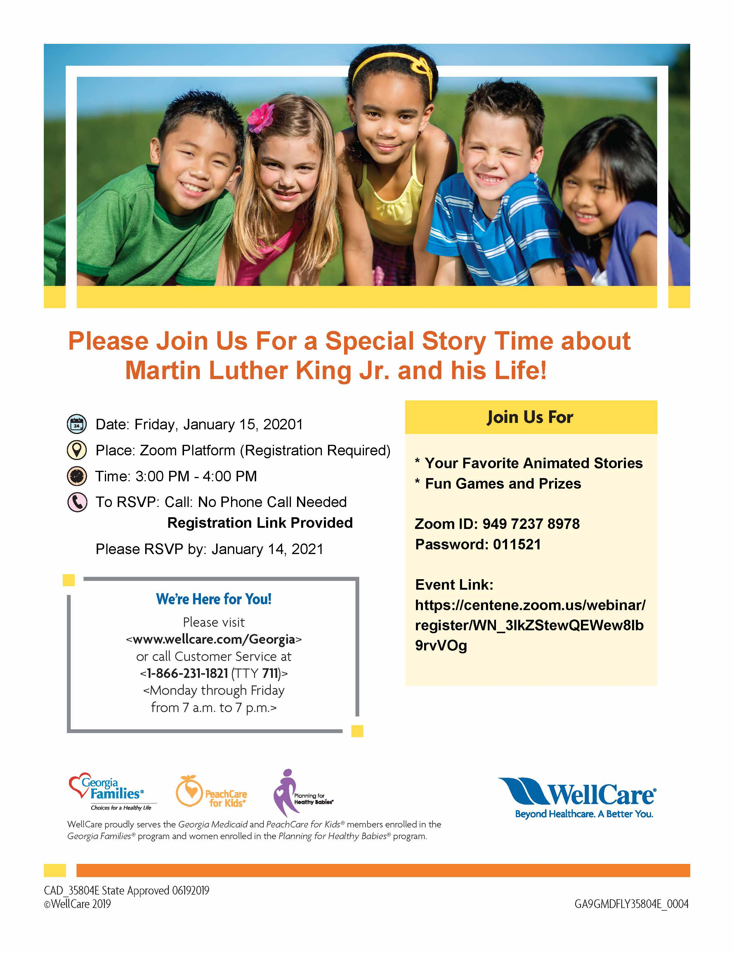 WellCare MLK Story Time