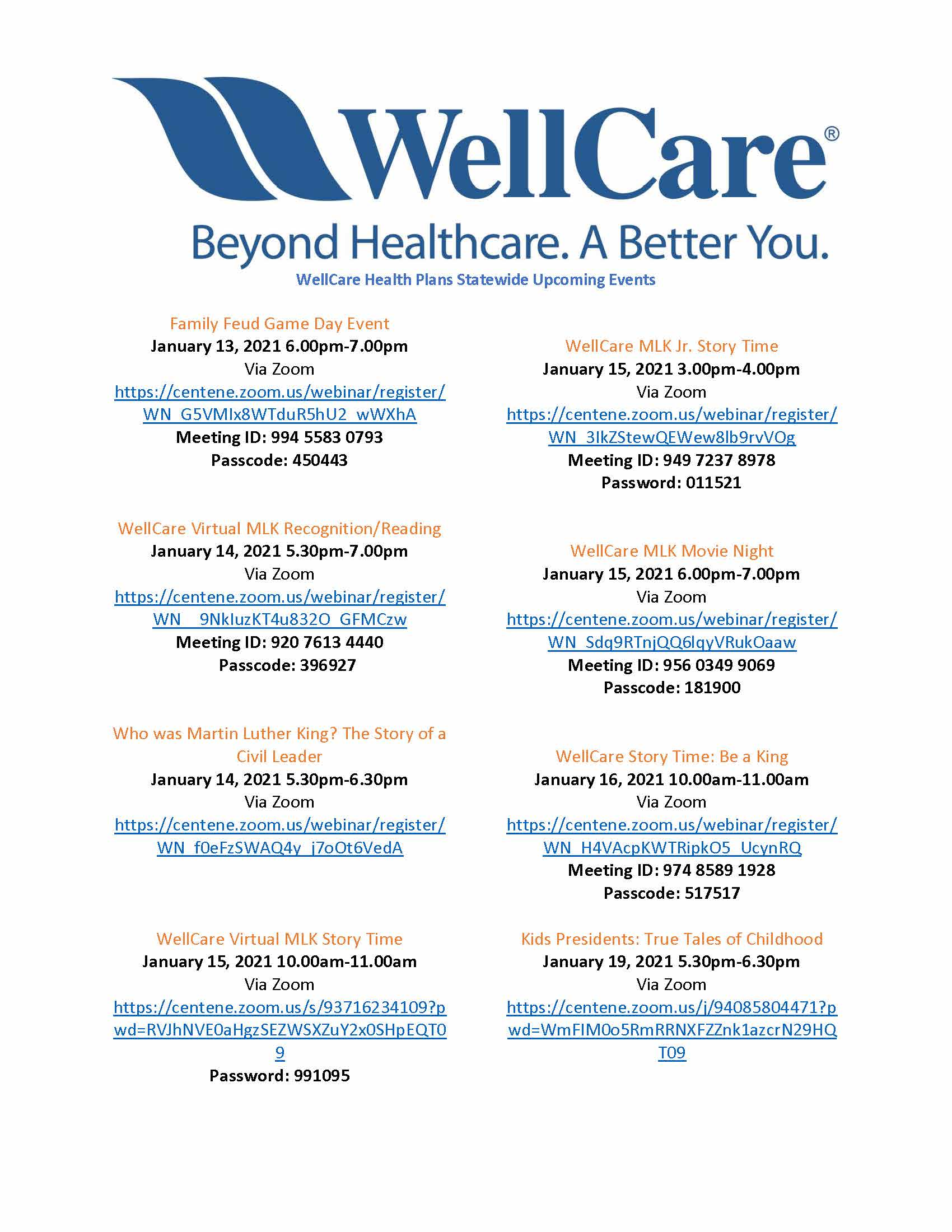 WellCare Events