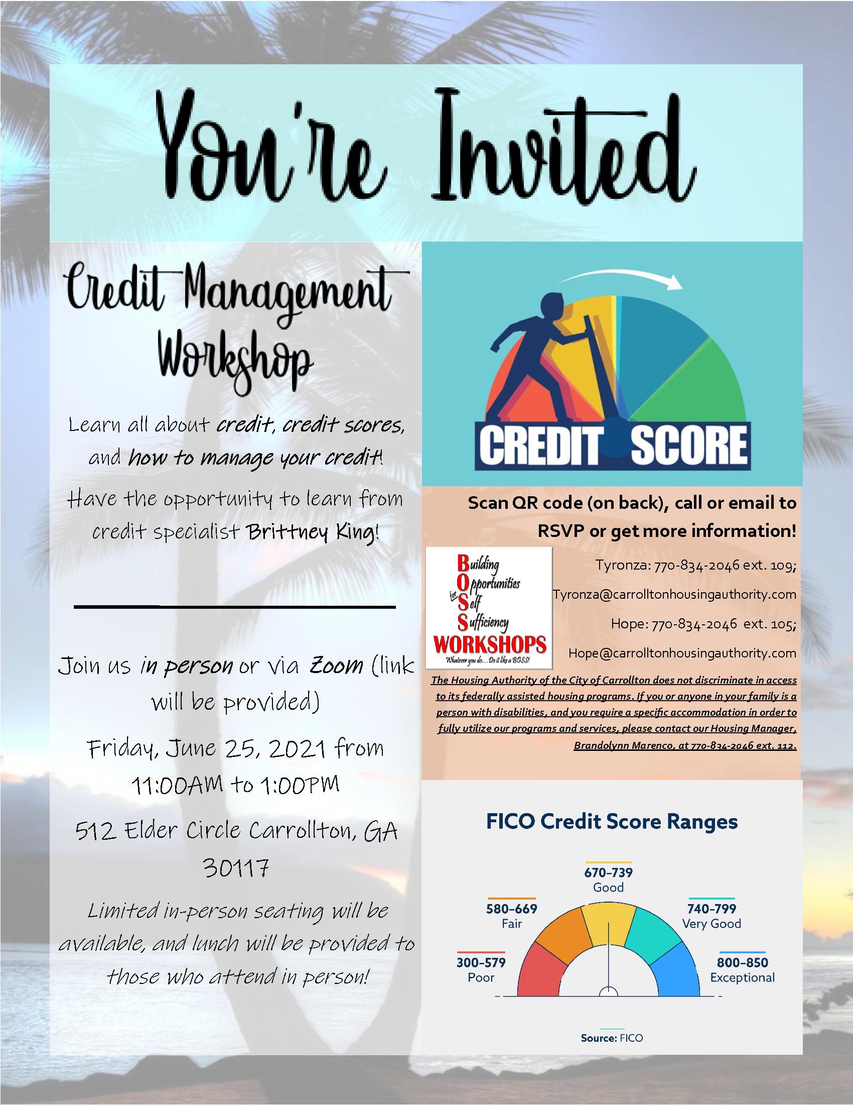FSS Credit Repair Workshop