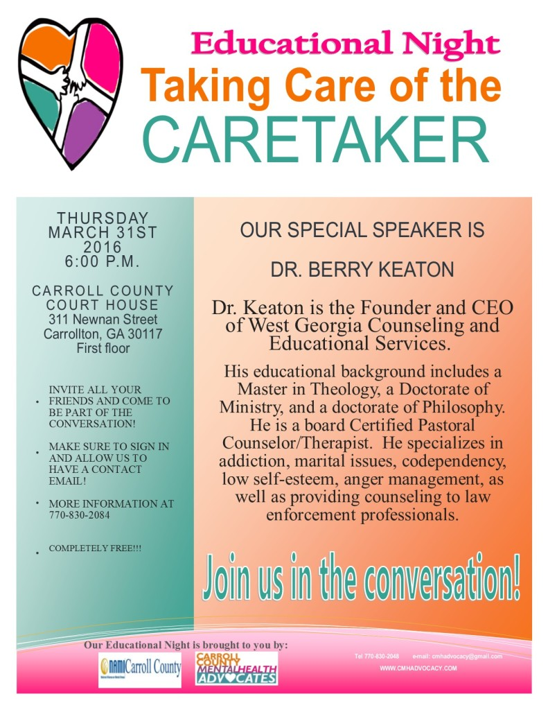 EducationalNight-DrBerry KeatonMarch31-2016
