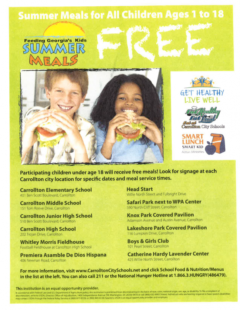 Free Lunch for Kids Summer 2014