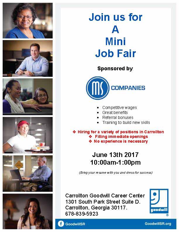 Job Fair Flyer for MS 6-17