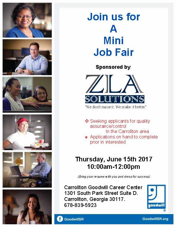 Job Fair Flyer for ZLA 617