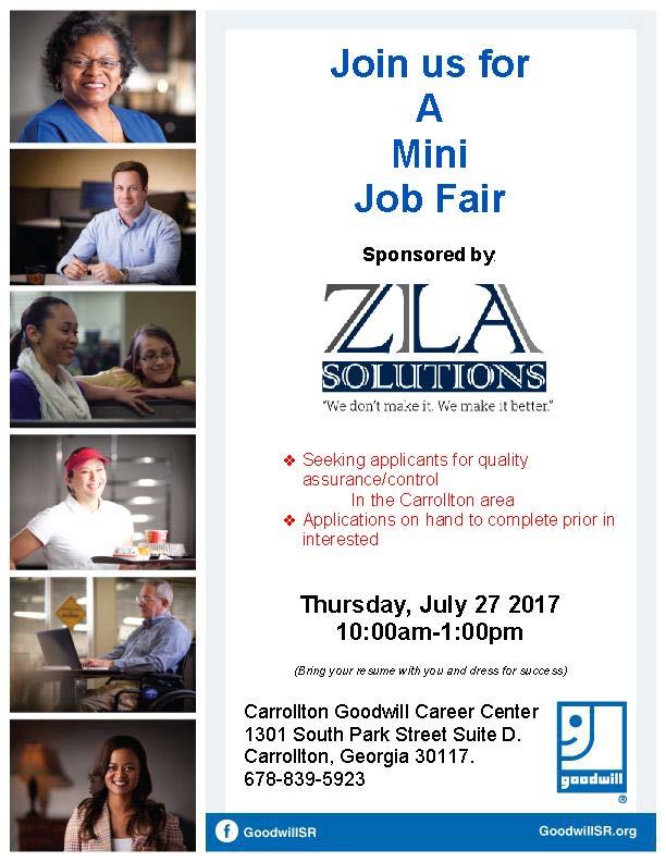 Job Fair Flyer for ZLA 717