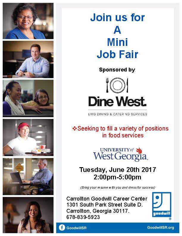 Job Fair Flyer for dine west