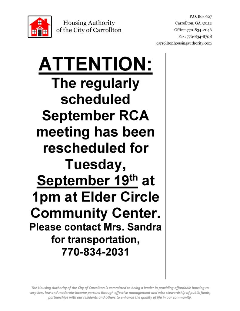 Rescheduled RCA