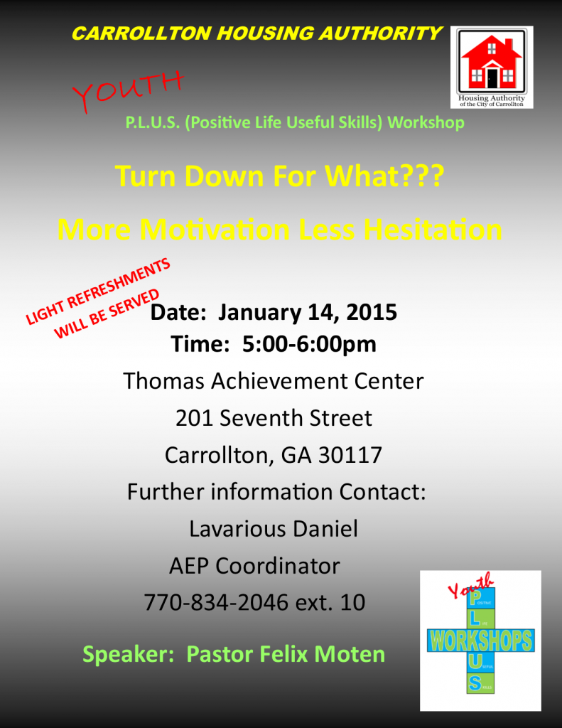 Youth Plus Flyer January 2015